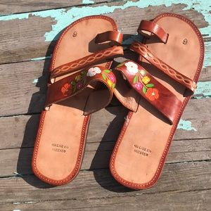 Women's leather sandals #9